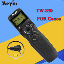 MEYIN TW-830 E3 TW-830 Shutter Release Cable Timer Remote Control for Canon PowerShot G10 1200D 700D 550D Pentax Samsung Contax(China)