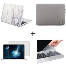 New Rubberized Matte Case Cover Sleeve for Apple MacBook 11Air 13 pro retina 15 12 inch laptop tas and keyboard cover(China)