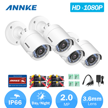 ANNKE C51BS 1080P HD-TVI Security Bullet CCTV Camera 4pcs Kit Weatherproof Housing And 66ft Super Night Vision(China)