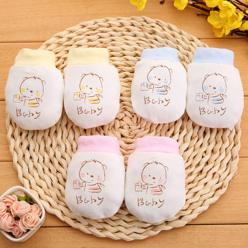2pcs Baby Gloves Anti Scratch Face Hand Guards Protection Soft Newborn Mitten