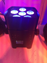 4X battery led par light 6 pcs *6W RGB 6in1 led par light wash effect 6or10channels dmx stage light for event(China)
