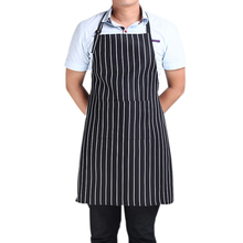 Creative Stripe Kitchen Apron for Women Men Useful Cooking Apron Grid Adjustable Chef Cloth Accessories EJ874014(China)