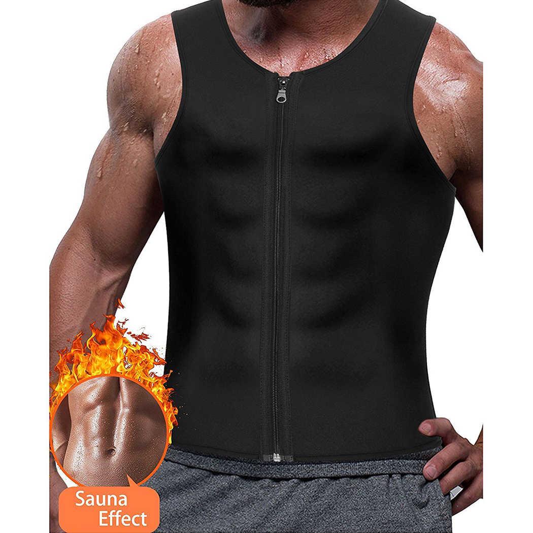2d7d9d3ef8 Mens Shapewear Zipper Neoprene Shaper Control Body Shapers Slimming Vest  Tank Tops Tummy Trainer Girdle Belt