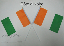 Ivory Coast Cote d'Ivoire   Banner   free shipping Hand waving Flag  10pcs/set Congo  National Flag 14*21 cm