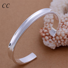 Cheap sliver plated small bangles bracelet for women fashion jewelry gift friend chic accesories female wholesale CCNE0486