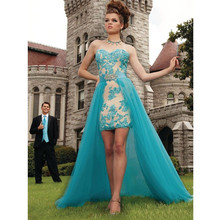 2017 Vestido De Festa Robe De Soiree Modern Victorian Sweetheart Embelish With Appliqued Sleeveless Prom Dress Removable  C-17