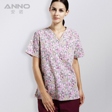 New arrival printed scrubs medical clothing female hospital medical scrub Medical suits for women and man Nursing Uniform(China)