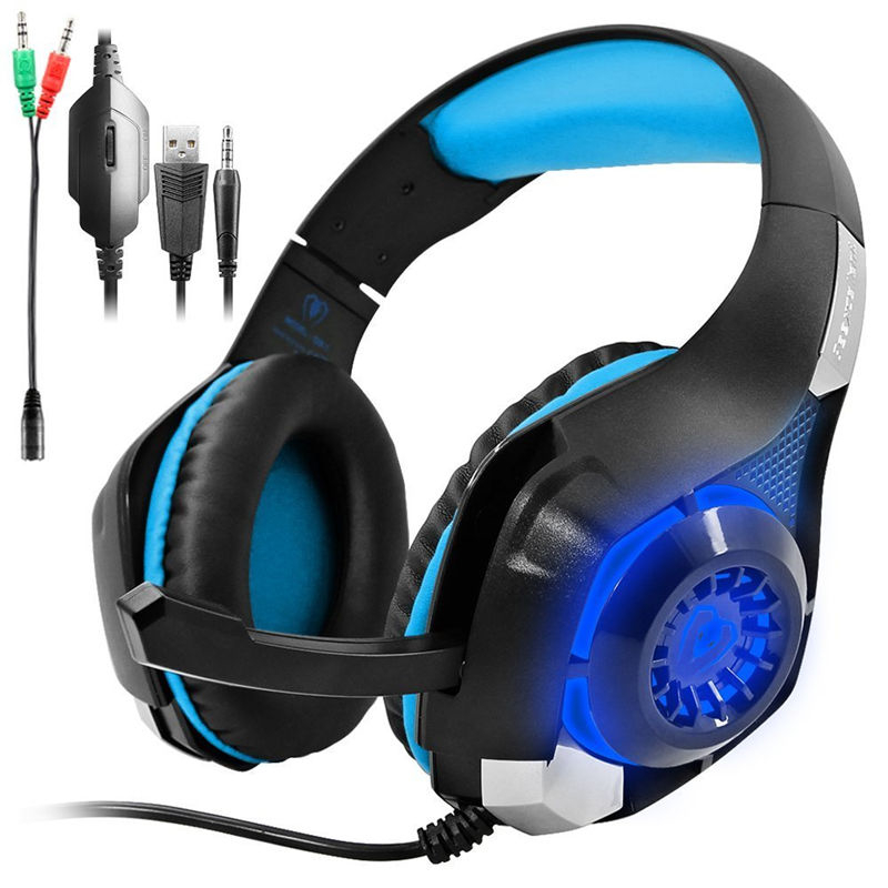 GM-1 Headphone Gaming PS4 Headset for PSP Xbox one Computer laptop PlayStation 4 mobile phone with mic Adapter Cable for PC<br><br>Aliexpress