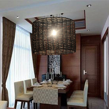 Chinese creative personality Wooden rattan Pendant Lights viltage  for Restaurant Cafe lamp free EMS shipping