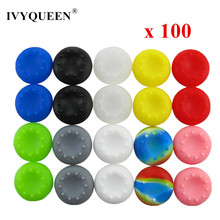 100 pcs Silicone Analog Thumb Stick Grips Caps for Dualshock 4 PS4 Pro Slim Controller for PS3 for Xbox 360 One S Joystick Cover