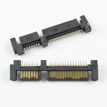 5Pcs Per Lot 7+15 Pin Right Angle SMT Male Reverse Sata Connector For 2.5