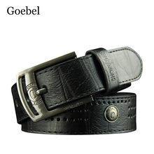 Goebel Designer Mans Belts Fashion Pin Buckle Man's Belt Casual All-Match PU Leather Casual Belt Men(China)