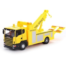 High Quality Scania Toy Tow Truck Wrecker Vehicle Alloy Truck Model As Gift For Boy Children