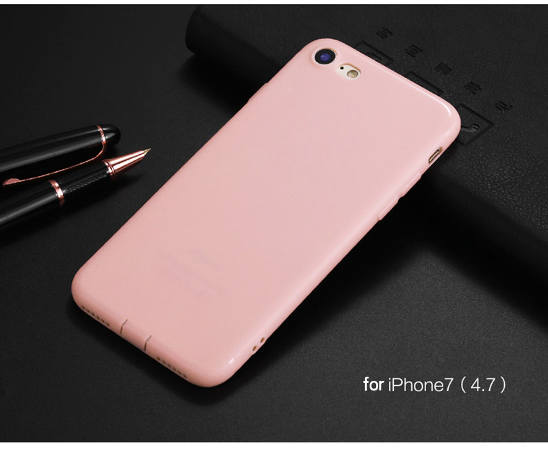 Ultra Thin Phone Cases for iPhone 6 Case 6s Plus Candy TPU Plastic Cover for iphone 7 Case 7 Plus SE 5 5s Cases Silicone Phone 16