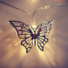 Buy HAOCHU Gorgeous Silver Butterfly LED String Light Garland Wedding Marriage Room Decoration Photo Props Background Battery Box for $8.50 in AliExpress store