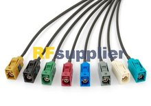 Superbat free shipping Radio antenna Extension cable Fakra Jack pigtail 15cm SET Customizing for VW BNW Audi Ham