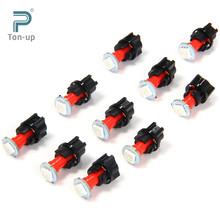 Promotion! 10pcs LED Car Twist Socket Instrument Panel Dash Light Bulb T5 PC74 SMD 5050 12V Dashboard Bulb Blue White Red Green