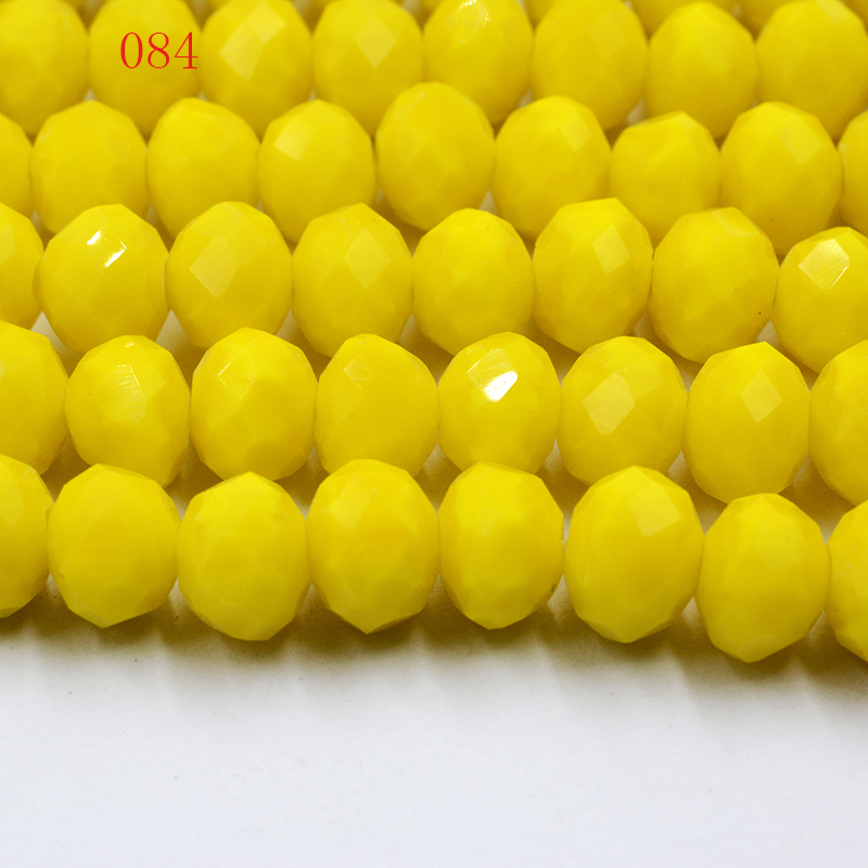 Diy Jewelry 100pc 4*6mm Faceted Rondelle glass crystal Beads Light blue AB