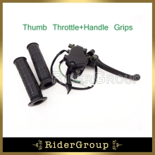 7/8'' 22mm Thumb Throttle Accelerator Brake Lever Handle Grips Assembly For 125cc 150cc 200cc 250cc Chinese ATV Quad