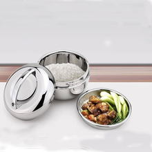 1 piece high quality Promotional rounded stainless steel lunch box super quality food container lunch boxes(China)