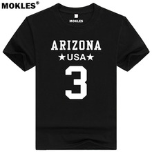 CARSON PALMER 3 arizona custom made name number t shirt fresno california t-shirt diy usa america black white blue gray clothing(China)