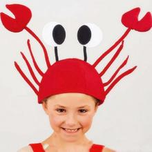 Creative Festival Funny Crab Hat Party Headwear Child Adult Christmas Hats Christmas Hats Crab Hat Head wear A15(China)