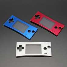 Replacement Front Shell Faceplate Cover Case Part For Nintendo For Gameboy Micro GBM Sliver Red Blue Three Color Faceplate(China)
