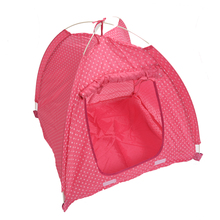 Hot Pet Dog Cat house Kitten Cat Puppy Dog Mini Nylon Camp Tent Bed Play House pink For Travel Collapsible Easy Storage Cat-L