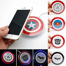 New Fasion Qi Wireless Charging Chargers Pad Batman Transformers Superman IronMan For Samsung/Xiaomi/Huawei/Android Phones