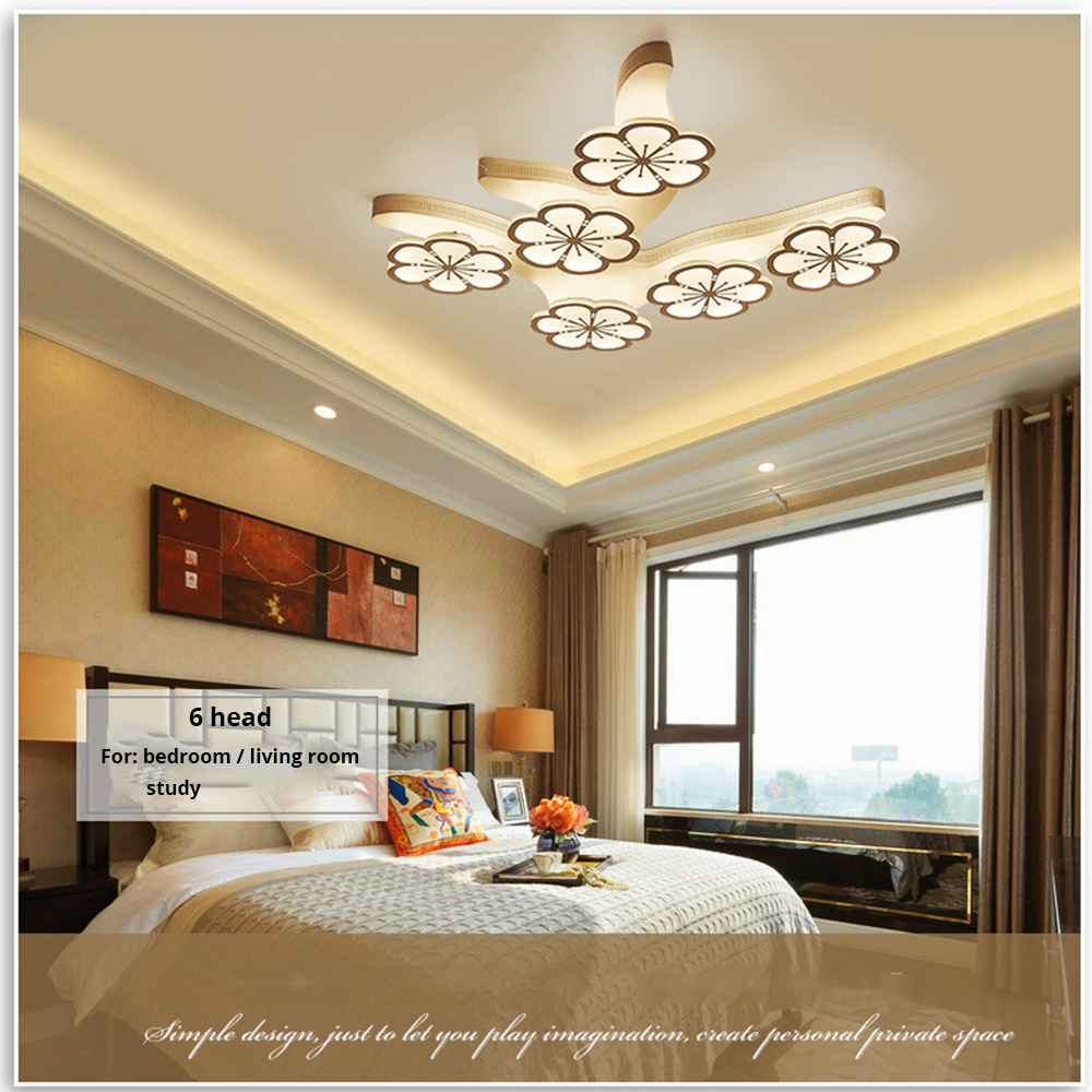 Fuloc Acrylic Aluminum Modern Led Ceiling Lights For Living Room