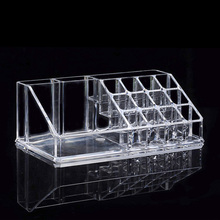 Lipstick Nail Polish Acrylic Transparent cosmetic storage box makeup organizer storage Cosmetic Display Stand Holder Sundry(China)