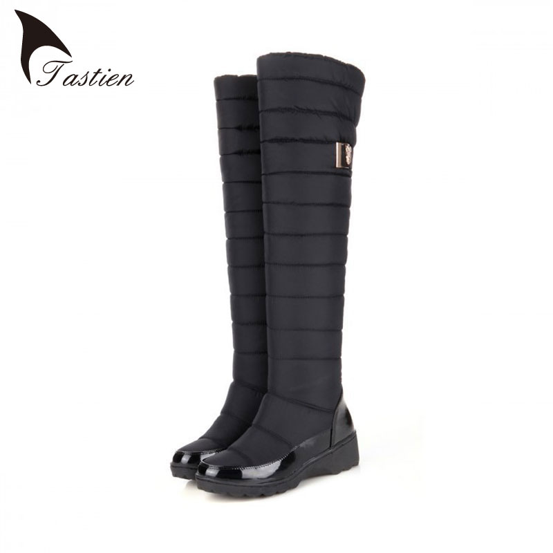 2017 Hot Sale Women Snow Boots Keep Warm Fashion Platform Fur Thigh Knee High Boots Warm Winter Boots For Woman Shoes Large Size<br><br>Aliexpress