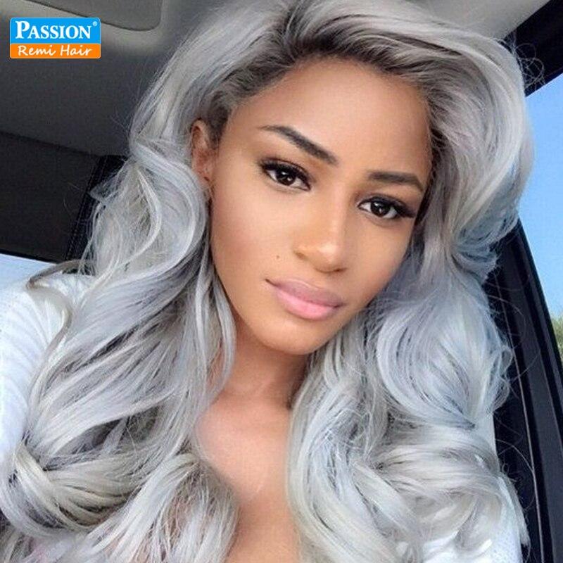 Brazilian Body Wave 4 Bundles Ombre Dark Grey Hair Weaving 1b/Gray Two Tone Brazilian Virgin Human Hair Ombre Hair Extensions<br><br>Aliexpress