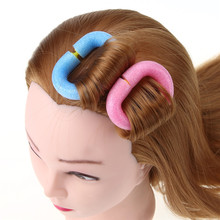 Brand New 12pcs Soft Foam Anion Bendy Hair Tool  Hair Rollers DIY Curlers Cling Free Shipping
