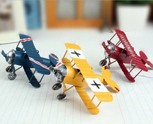 3 Pcs/lot 10cm Vintage Toys Airplane Model Metal Iron Handcraft Plane Aircraft Home Wedding Decoration Car Styling Handicraft(China)