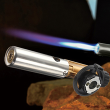 Mini Butane Gas Burners Copper Gun Maker Electronic Ignition Torch Lighter Adjustable Fire Power For Outdoor Camping Cooking