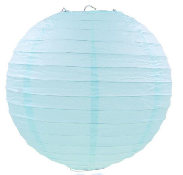 10 Pieces 6-8-10-12-14-16 Inch Light Blue Chinese Paper Lanterns For Party and Wedding Decoration Hang Paper Lanterns(China)