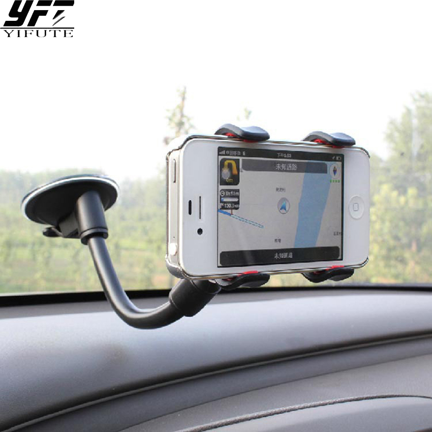 Universal car holder iPhone 6 7 Plus Samsung S6 S5 360 degrees mount holder stand mobile phone xiaomi support Car DVR