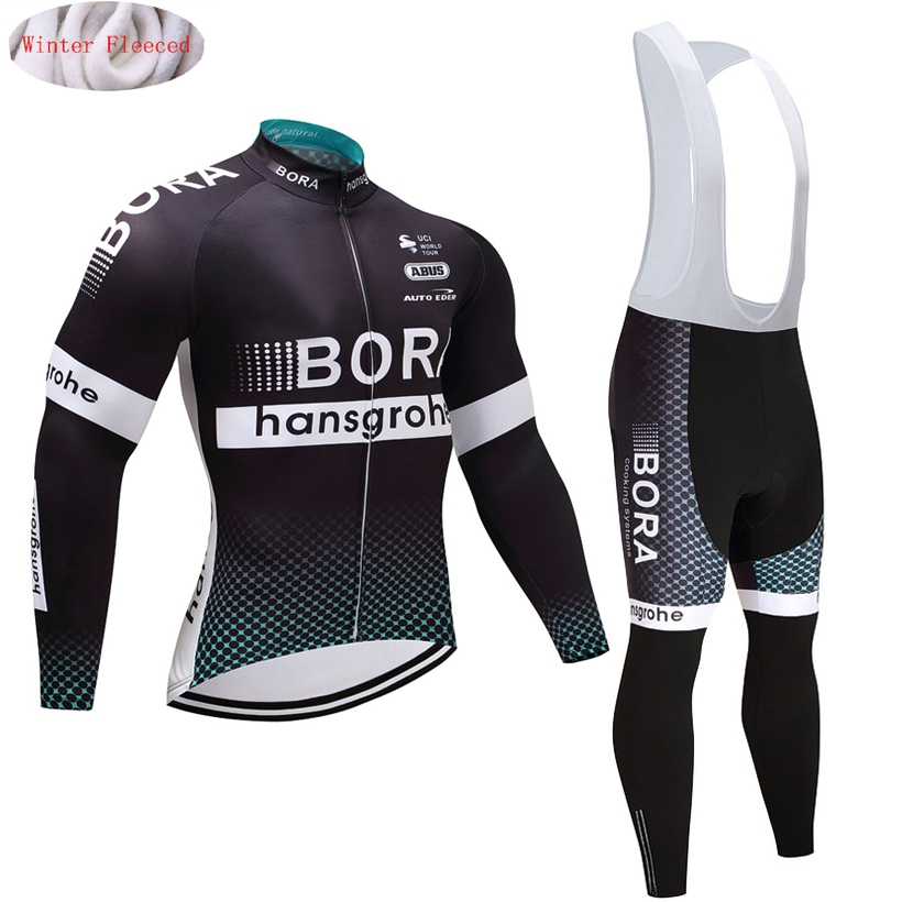 Winter cycling clothing BRA 2017 thermal cycling jersey long fleece maillot ropa ciclismo cycling jersey bib pants warm<br>