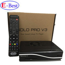 DHL Free shipping SOLO PRO V3 DVB-S2 HD Linux Enigma2 751MHz MIPS Satellite Receiver Blackhole Openpli update from solo pro v2