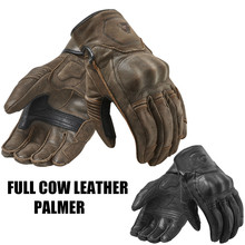 2018 Revit Palmer Motorcycle Gloves Full Leather Retro Urban Moto Gloves short-cuffed Brown Scooter Gloves(China)