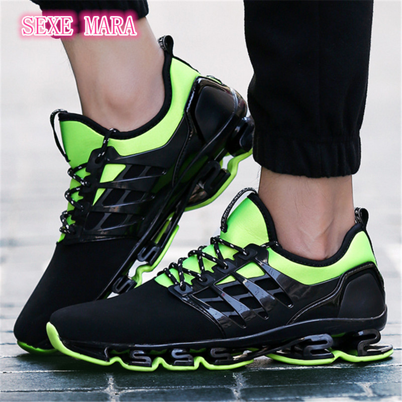 Sneakers men Shoes Outdoor 2017 size 36-44 Sports shoes men Running Shoes for men lace-up Boy Anti-skid Jogging Walking X158<br>