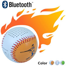Cool Sports Baseball Bluetooth Speaker 3W potable mini Home theater phone laptop audio player 600mAh battery USB charge line in
