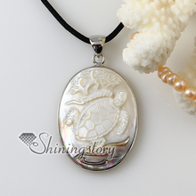 oval cameo sea turtle girl white oyster shell Penguin Oyster Shell necklaces pendants 2013 cheap handmade jewelry