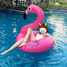 Inflatable Flamingo Circle Pool Floats Toy Air Mattress Swimming Float Inflatable Pool Ring Toys for Adult para piscina 120