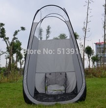 Sunless Silver grey color pop up Spray Tanning tent with PVC roof/top quality popular in European & American market(China)