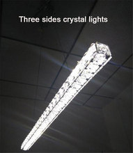 Modern L70cm Long Bar LED crystal Chandelier Dining room Kitchen Restaurant office Illumination lighting fixtures(China)