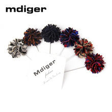 Mdiger Lapel Pin Handmade Exquisite Brooch Flower Mens High-end Floral Lapel Pin Wedding Casual Mens Accessories 6 Pcs/Lot(China)