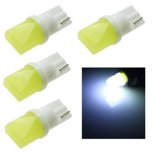 4pcs T10 3d LED W5W  White Lights Car Side direction indicator License plate light Door Map Festoon Dome Lamp Bulbs DC 12V