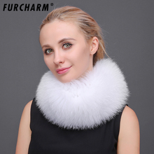 Real Fox Fur Women Headband Scarf Warm Ear Protecter Headgear Autumn Winter Neckerchief Fashion Women Knitted Fur Headwarps(China)